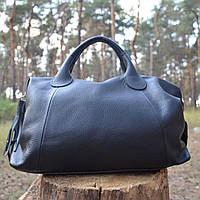 Женская сумка-саквояж из натуральной кожи (Италия) - IT_001/Black