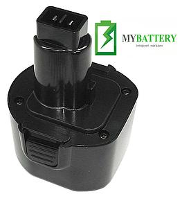 Аккумулятор для шуруповерта DeWalt DE9036 3000 mAh 9,6 V черный