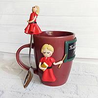 Подарочный набор (чашка и ложка) для учительницы на 8 марта