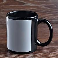 Чашка сублимационная цветная с полем ЧЕРНАЯ, 330 мл