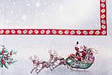"""Скатертина кругла """"Свято наближається"""" з сріблястою люриксовой ниткою, гобелен, Ø180, фото 3"""