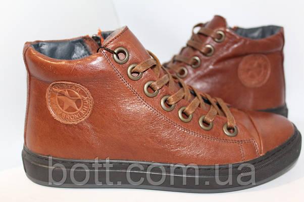 Коричневые зимние ботинки, фото 2