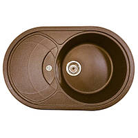 Мойка для кухни (780*500 мм) из гранита цвета шоколад AVANTI 780