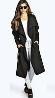 Легкое осеннее пальто-тренч черное опт, фото 1