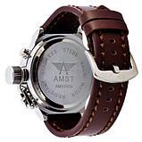 AMST 3003 Silver-Black Brown Wristband, фото 2