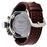 AMST 3003A Silver-Black-Brown Wristband, фото 2