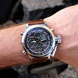 AMST 3003 Silver-Black Brown Wristband, фото 3