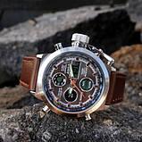 AMST 3003 Silver-Black Brown Wristband, фото 4