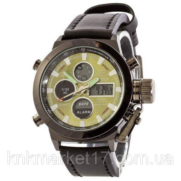 AMST Black-Green Black Wristband