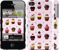"""Чехол на iPhone 4s Тортики """"2327c-12"""""""