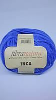 Пряжа INCA FIBRANATURA. Цвет синий.