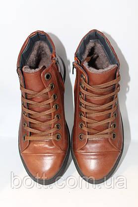 Коричневые зимние ботинки, фото 3