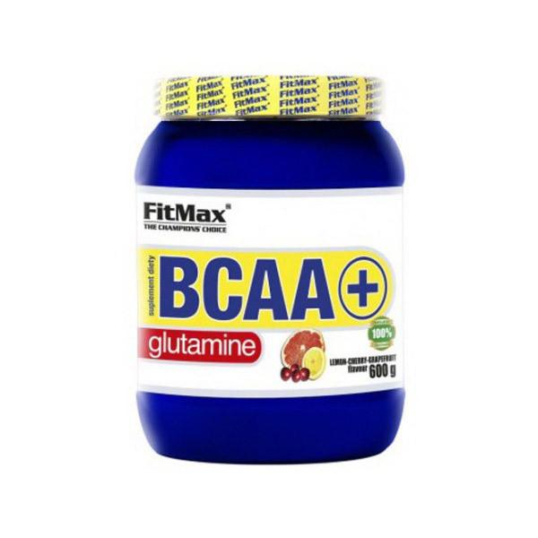 БЦАА FitMax BCAA + Glutamine (600г) с глютамином фитмакс lemon-cherry-grapefruit