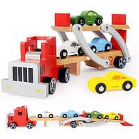 Игрушка Автовоз деревянный Top Bright, фото 1
