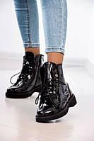Ботинки кожаные женские лакированные