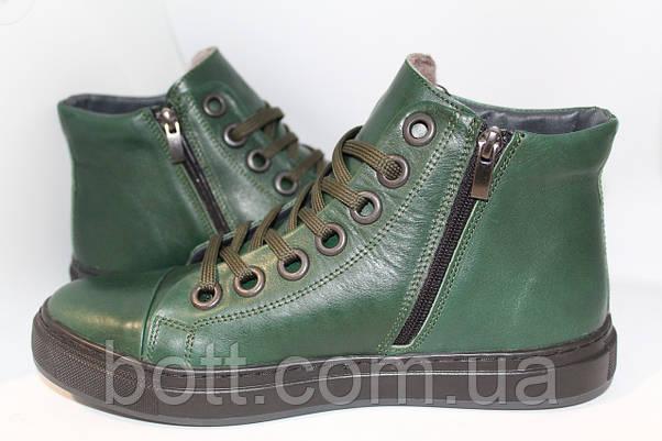 Мужские ботинки зима зеленые, фото 3