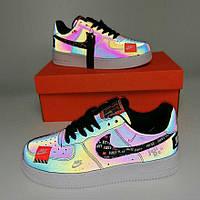 Nike Air Force 1 Low Just Do It Reflective | кроссовки женские; рефлектив; осенние/весенние