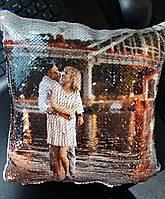 Подушка с пайетками и Вашим фото, фото 1