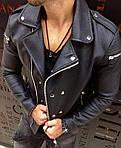 Мужская стильная косуха (черная) - Турция, фото 4