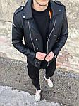 Мужская стильная косуха (черная) - Турция, фото 3