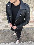 Мужская стильная косуха (черная) - Турция, фото 7