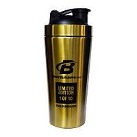 Шейкер Bodybuilding gold shaker 750ml (золотой металлический шейкер бодибилдинг)