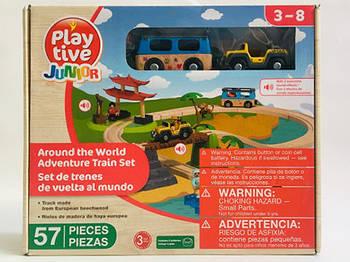 Дерев'яна залізниця PlayTive Junior World Around 57 елементів