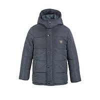 Куртка-ТРАНСФОРМЕР зимняя-демисезонная для мальчика Акула 146,152,158,164см сьемний жилет