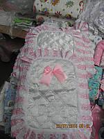 Конверт на выписку новорожденного на замке