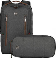 Комплект Wenger City Upgrade 606489 рюкзак и сумка, серый
