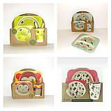 Набор детской бамбуковой посуды, маленькая, фото 7