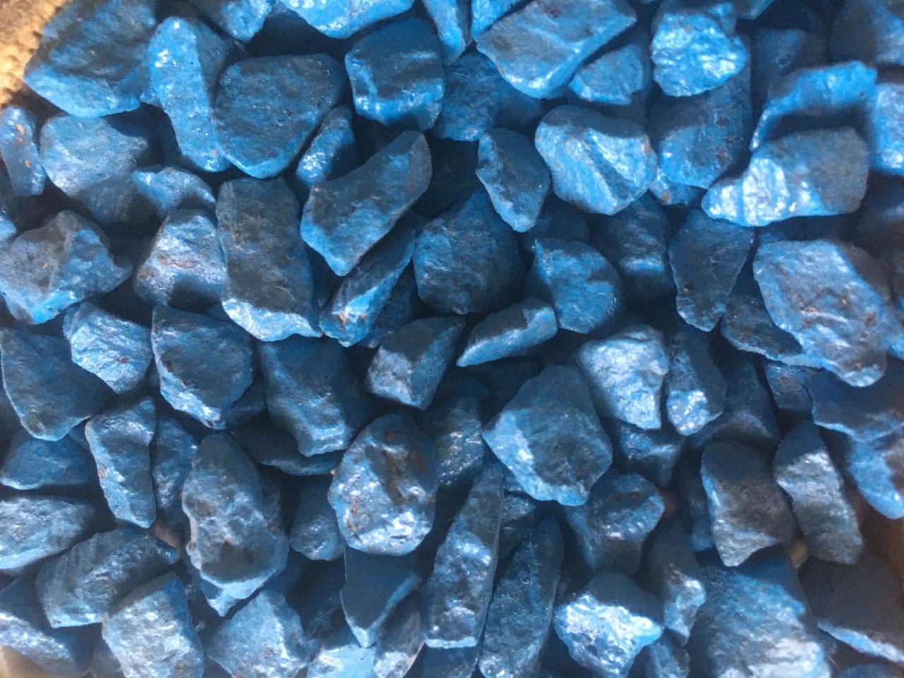 Кольорове каміння Синій Фракція 5-10 (20кг)