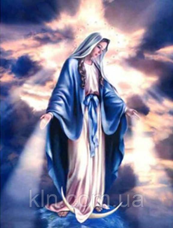 Алмазная вышивка Дева Мария смотрит с небес 50 х 40 см (арт. FS901) икона вера