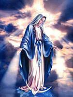 Алмазная вышивка Дева Мария смотрит с небес 50 х 40 см (арт. FS901) икона вера, фото 1
