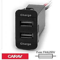 Розгалужувач USB Carav 17-208 SUZUKI 5v 2.1 A (2 порти)