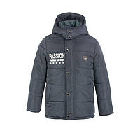 Куртка-ТРАНСФОРМЕР зимняя-демисезонная для мальчика Акула 2 - 146,152,158,164см сьемний жилет