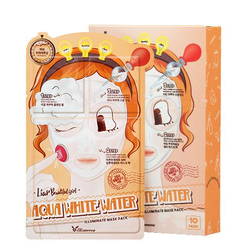 Триступенева зволожуюча маска ELIZAVECCA Aqua White Water Illuminate Mask Pack, 1 шт