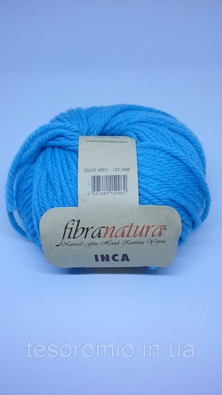 Пряжа INCA FIBRANATURA. Цвет бирюзовый.