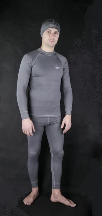 Чоловіче спортивне термобілизна Virmax Sport сіре + спортивна шапка в подарунок