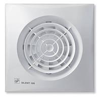 Вытяжной вентилятор малошумный SILENT-100 CZ Soler&Palau Испания белый