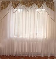 Ламбрекен УГОЛКИ мозаика оливково-коричневые, фото 1