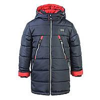Куртка-ТРАНСФОРМЕР зимняя-демисезонная для мальчика Канада 116,122,128,134см сьемная овчина