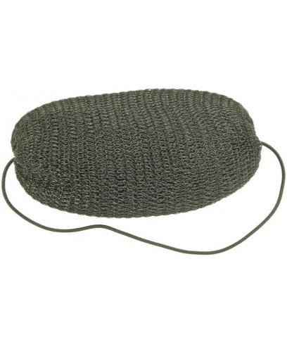 Эластичный роллер для волос Sibel черный с резинкой.