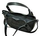 Женская сумка черная из натуральной замши Michael Kors (27*32*14), фото 3