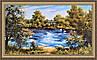 Картина Летний пейзаж 500х1000 мм в багетной раме №398