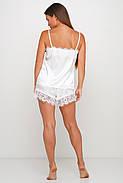 Шелковый нежный пижамный комплект майка шорты, фото 2
