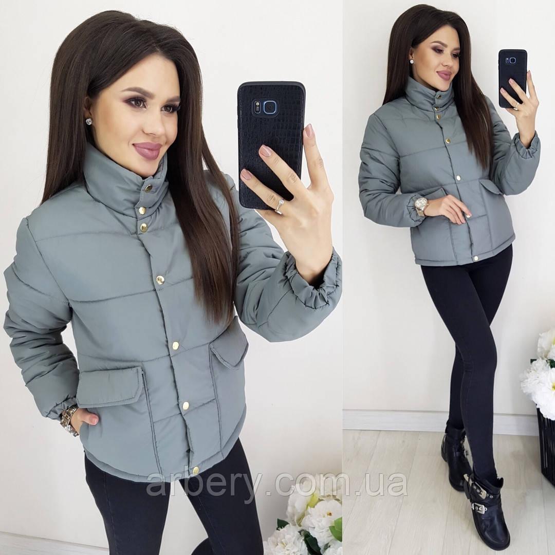 Женская модная матовая куртка демисезеон