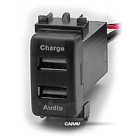Роз'єм USB у штатну заглушку Carav 17-106 Nissan / 2 порти: аудіо + зарядний пристрій