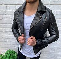 Мужская стильная косуха (черная) - Турция