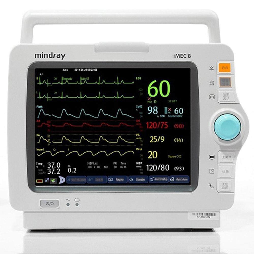 Монитор пациента iMEC8 укомплектован: TR MR401B, SpO2, NIBP Adu, cab. ECG-5 lead, IBP